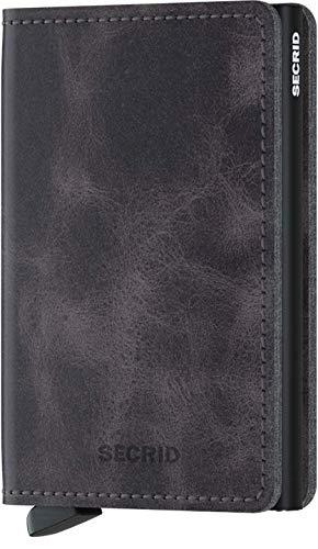 Secrid Men Slim Wallet Genuine Leather RFID Safe Card Case for max 12 cards