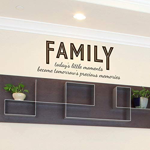 Dozili Family Today's Little Moments Quote - Wall Decal Custom Vinyl Art Stickers 22