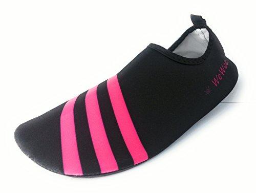 WeWee Sehr bequeme Barfußschuhe aus elastischen Neopren, Pink, Gr 38-39 (Herstellergröße L)