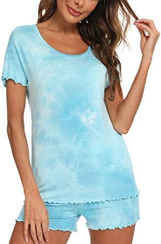 TIKTIK Womens Short Sleeve Pajama Short Sets Sleepwear Petite Plus Size S-4XL