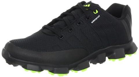 adidas Men's Crossflex Golf Shoe,Black/Black/Slime,9.5 M