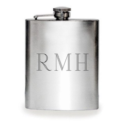 1 X Personalized 6oz Stainless Steel Flask - Free Engraving