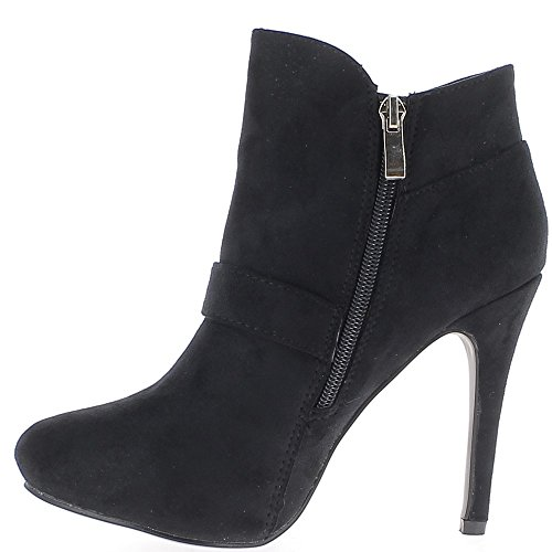 Low black boots to end 11cm suede look heel js8hZd