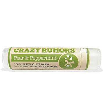 Crazy Rumors Pear & Peppermint Lip Balm, 0.15 oz. Bestselling 20% VITAMIN C ULTRA POTENT Anti Aging Serum by ASUTRA