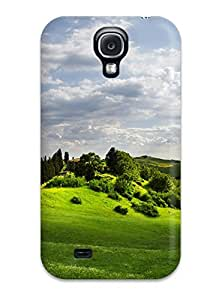 Hot Style RTrNCjR1603umbMY Protective Case Cover For Galaxys4(the Green Grass Hill)
