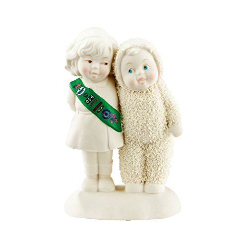 Department 56 Snowbabies Making New Girls Scout Friends Porcelain Figurine 4051845 New (Snowbabies New)