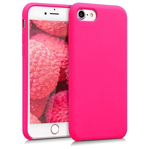 kwmobile TPU Silicone Case for Apple iPhone 7/8 - Soft Flexible Rubber Protective Cover - Neon Pink