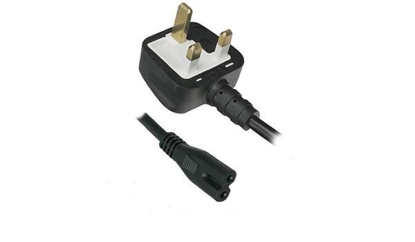 Nuevo 2 pin Fig 8 enchufe británico Cable de alimentación para ...