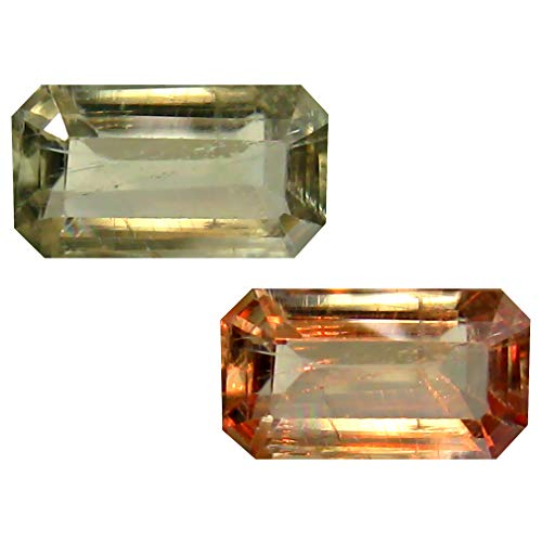 Deluxe Gems 1.56 ct Octagon Cut (9 x 5 mm) Unheated/Untreated Turkish Color Change Diaspore Natural Loose Gemstone