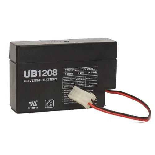 (UPG UB1208 - AGM Battery - Sealed Lead Acid - 12 Volt - 0.8 Ah Capacity - WL ... )