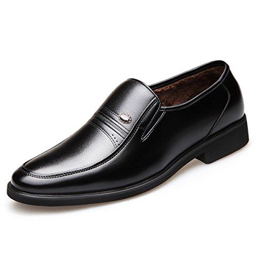 LEDLFIE Chaussures en Cuir Formelles D'Affaires D'Upscale Men Black QWJh30