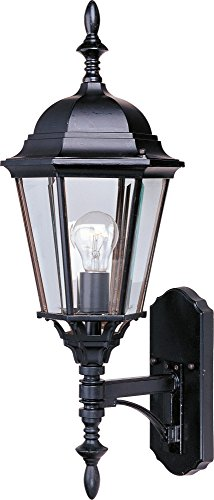 Maxim 1003EB Westlake Cast 1-Light Outdoor Wall Lantern, Empire Bronze Finish, Clear Glass, MB Incandescent Incandescent Bulb , 60W Max., Dry Safety Rating, Standard Dimmable, Glass Shade Material, 6048 Rated Lumens (Lighting Mounts Wall Mediterranean)