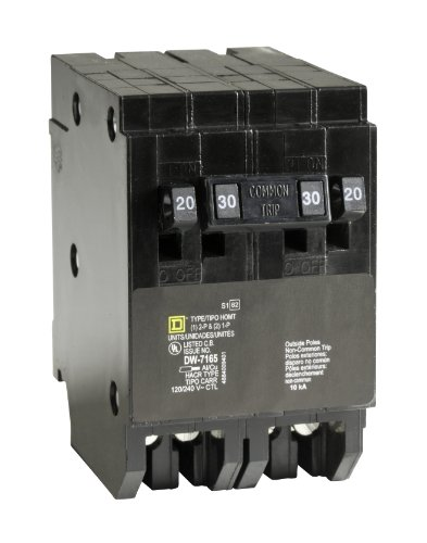 - Square D by Schneider Electric HOMT2020230CP Square D Homeline, Double Pole Combination Tandem Circuit Breaker