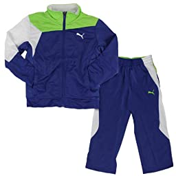 PUMA Little Boys\' Multi Block Jacket, Mazarin Blue, 6