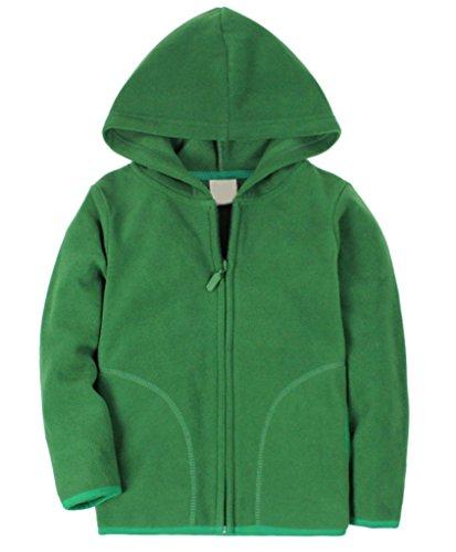 Dalary Baby Boys&Girls Polar Fleece Zipper Christmas Hoody Jacket Outerwear (6T,Green)