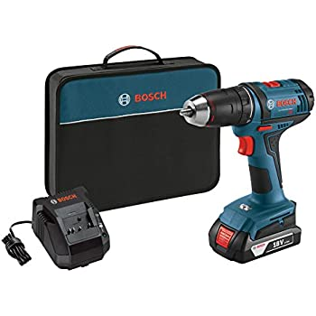 """Bosch DDB181-102 18V Lithium-Ion 1/2"""" Compact Tough Drill/Driver with one Battery, Charger & Contractor Bag"""
