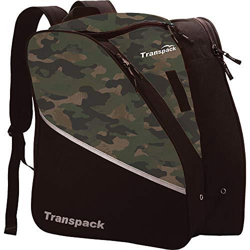 - Transpack Edge Junior Kids Ski/Snowboard Boot Bag - Black/Green Skull