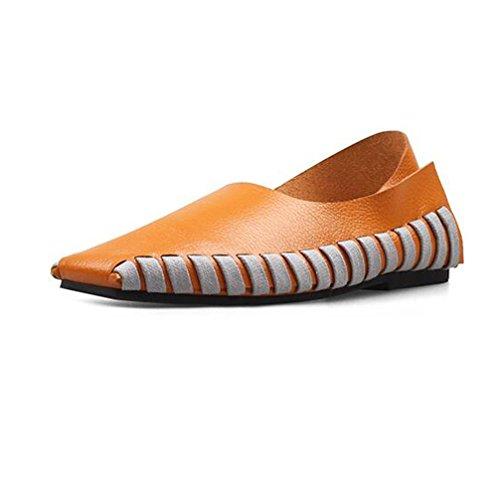 41 Chaussures Casual CORTEXBROWN Straps Lace Croix BOTXV Automne Femmes Couleur Chaussures Taille Plates Manuel Chaussures Peas Up Grande xtU0wnp
