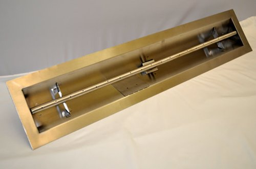 HPC 72 Inch Stainless Steel Firepit Trough Burner - Natural Gas - Trough Fire Pit