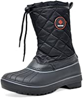 Dream Pairs Women's DP-Canada Faux Fur Lined Mid Calf Winter Snow Boots