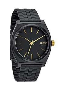 Nixon A0451041-00 - Reloj analógico de cuarzo para hombre con correa de acero inoxidable, color negro
