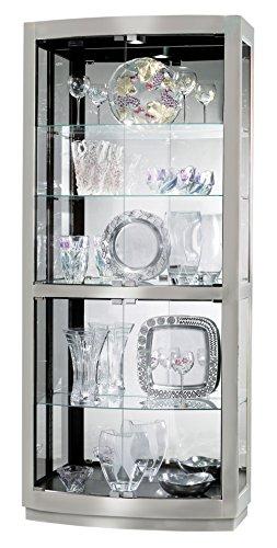 Howard Miller 680-396 Bradington II Curio Cabinet - Howard Miller Contemporary Curio Cabinet