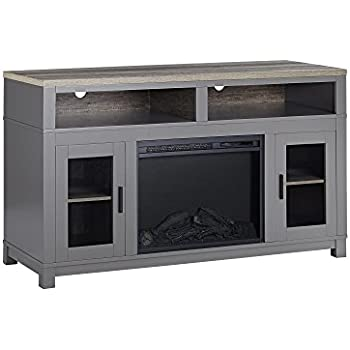 Amazon Com We Furniture 58 Quot Wood Highboy Fireplace Media
