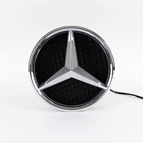 Xenon White Illuminated LED Car Logo Grid Badge for Mercedes Benz A//B//C//CLS//E//GLK//GL//R Series Front Grille LED Emblem Light