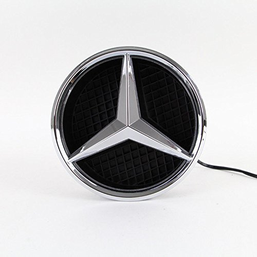- IHEX Auto Xenon White Illuminated LED Car Logo Grid Badge for Mercedes Benz A/B/C/CLS/E/GLK/GL/R Series Front Grille LED Emblem Light