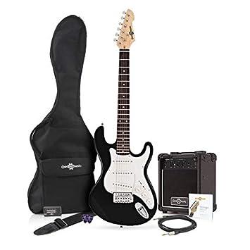 Guitarra Eléctrica LA 3/4 + Paquete de Amplificador de 10 W Negro: Amazon.es: Instrumentos musicales