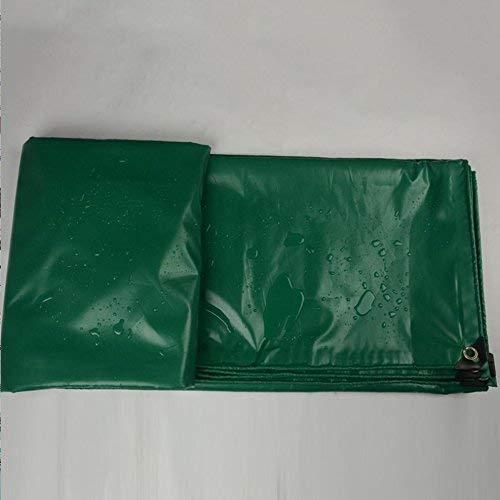 19-yiruculture 屋外テントターポリントラック防雨日焼け止めターポリン貨物保護小屋布テント布抗腐食抗老化 (Color : 緑, サイズ : 6X8M) 緑 6X8M