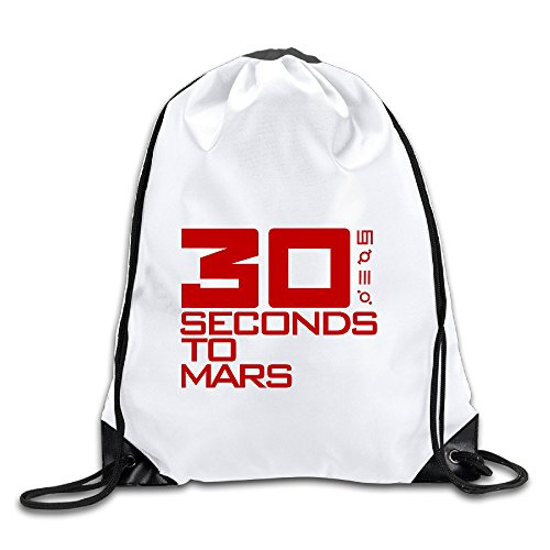 (Discovery Wild 30 Seconds To Mars Polyester Drawstring Backpack Rucksack Shoulder Bags Gym Bag Home Travel Sport Storage Use)