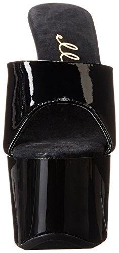 Black Women's 711 Vanity Shoes Sandal Platform Ellie gqaBYB