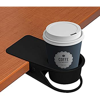 LOHOME Cup Holder, Coffee Water Soda Bottle Clip On Edage Of The Table DIY  Glass