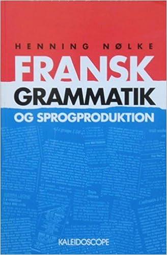 fransk grammatik og sprogproduktion