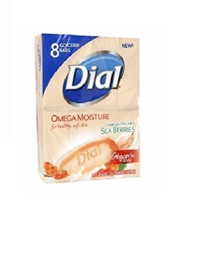 Dial Omega Moisture Glycerin Bar Soap, 4 Ounce - 8-count