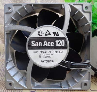 for Sanyo 9SG1212P1G03 12V 4A 12038 12cm Aluminum Shell High Temperature Resistant Violent Fan