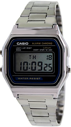 Casio Men's A158WA-1 Digital Watch (Alarm Casio Chrono)