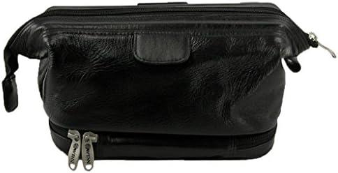 Winn International Men s Leather with Wet Pocket Travel Kit