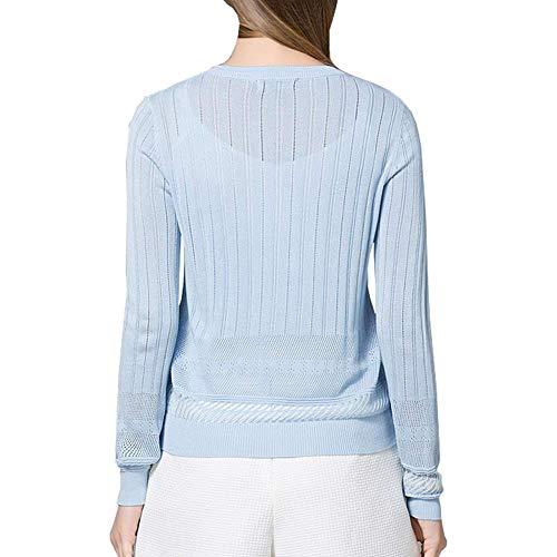 Femme Fashion Slim Haut Unicolore Automne Printemps Rond Veste Casual Col Tricot en Cardigan Fit V 0fdqadnZ