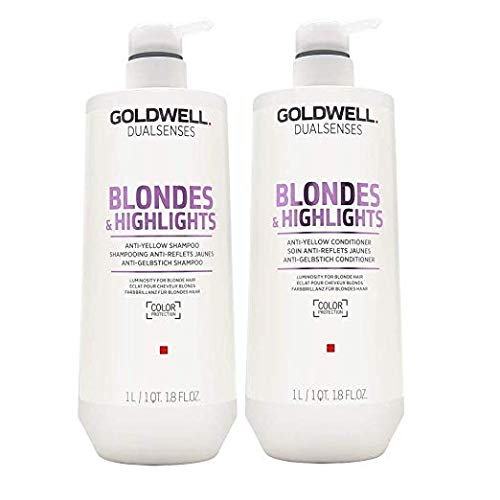 Goldwell Dual Senses Blondes and Highlights Shampoo and Conditioner Liter ()