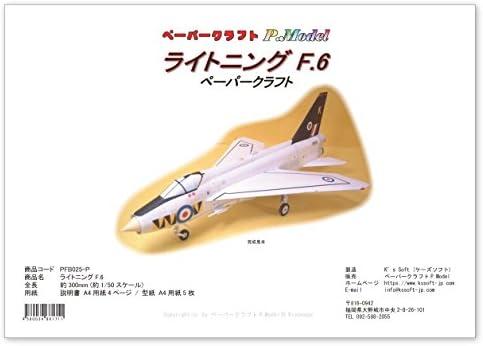 ライトニング F.6 のペーパークラフト