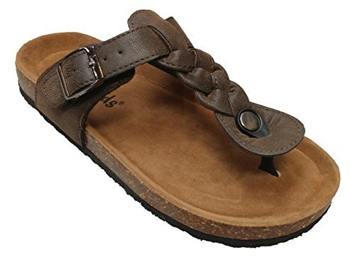 c8fea485c95 OUTWOODS Women s Bork 59 Braided T-Strap Thong Birk Style Sandal (8 M
