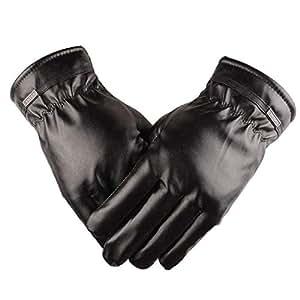 Amazon.com: FelixStore Winter Men's PU Leather Gloves