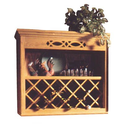Omega National 24x30 18-Btl WineRackLattice OAK