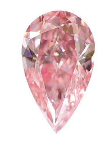 2.61 CT Loose Natural Diamond Fancy Vivid Pink VVS1 Pear Cut GIA Certified Amazing