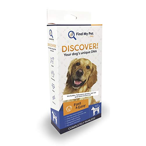 Find My Pet DNA 3.0 Plus Canine Genetic Age Test, Telomere Test, Dog Breed Test Kit, K9 DNA Test, DNA Test for Dogs, Find Biological Age of Your Dog