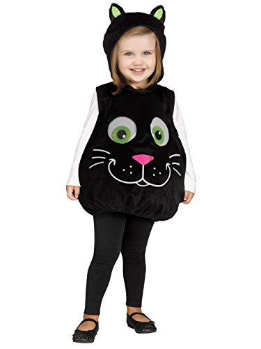 Fun World Googly Eye Black Cat Toddler Costume-