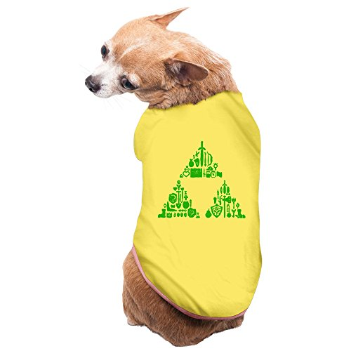 Link Costumes Triforce Heroes (Bekey Cool Zelda Triforce Items Boys Pet Dog Cat Pets Costumes For Small And Medium Dogs And Cats Yellow Size M)