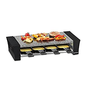 Swissmar KF-77088 Ticino 8- Person Raclette with Granite Stone Top, Black
